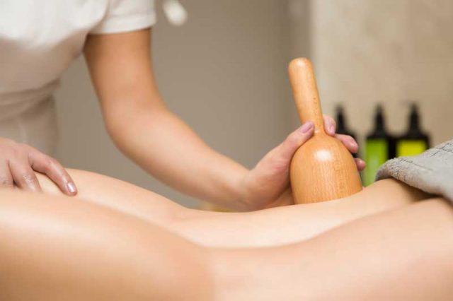 brazilska maderoterapija, masaža drvenim čašicama